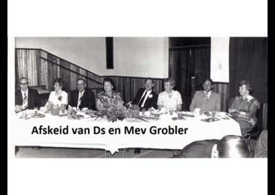 Afskeid van Ds Grobler