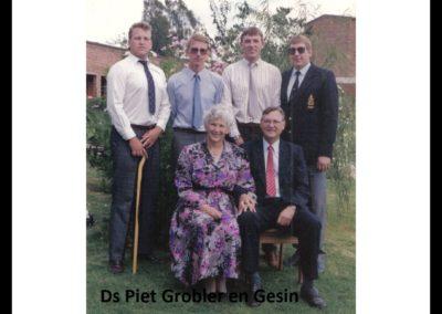 DS Piet Grobler familie